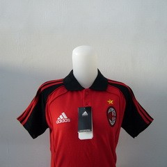 Foto Produk Polo Anak Milan Merah Lis Hitam dari Premier Sport