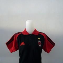 Foto Produk Polo Anak Milan Hitam Lis Merah dari Premier Sport