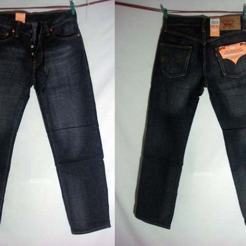 Foto Produk Celana Jeans Levi's 501 Hitam Washed Abu-Abu (Tight Straight) Size 29-32 dari Jeans Pants Land