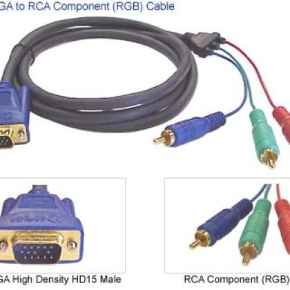Foto Produk KABEL VGA TO 3 RCA COMPONENT(kualitas premium)===>ready stock dari Toko Komputer Mbah Priok