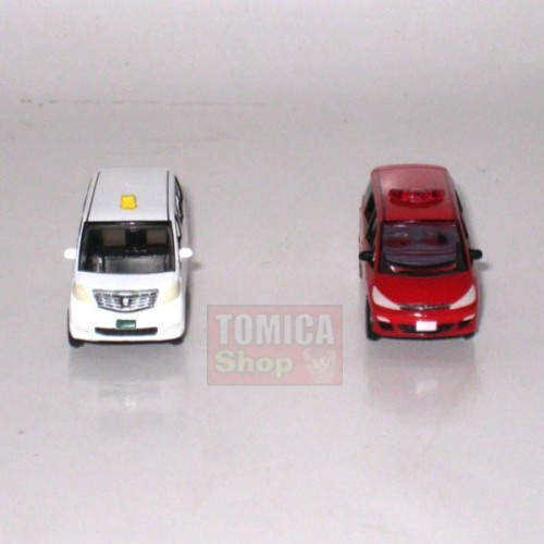 Foto Produk Tomytec Car Collection Vol.08 #13 SECRET Estima Fire Department & Alphard Private Taxi - STOK HABIS dari Tomica Shop