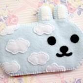 """Foto Produk Tempat Hp / Sarung Hp """"Cute Rabbit"""" dari Sumringah Shop"""