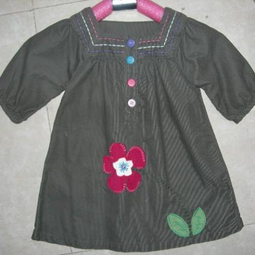 Foto Produk Baju Anak - Dark Green Flower Dress dari Pusat Baju Anak