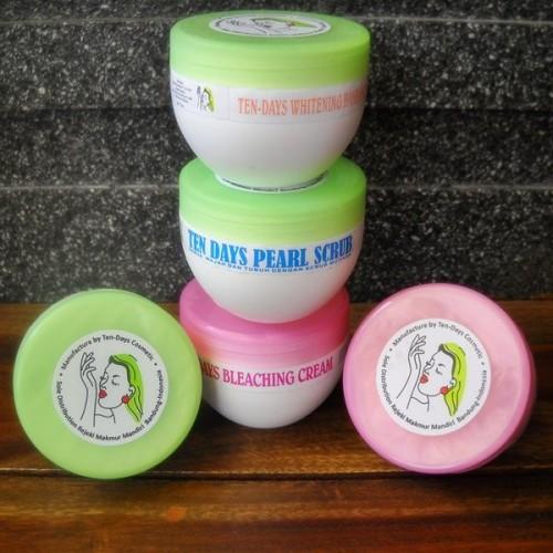 Foto Produk Paket Tendays WHITENING Series (lotion + bleaching + scrub mutiara) dari Hana Beauty Shop
