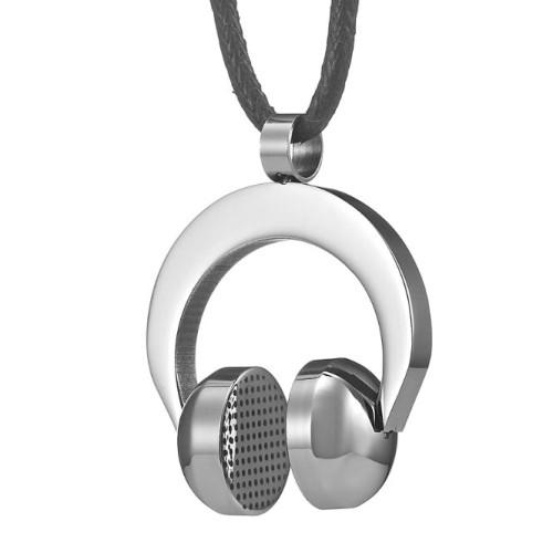 Foto Produk Rock n Roll Stainless Steel DJ Headphone Necklace Pendant Mens Chain dari KLIKHADIAH