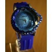Foto Produk JAM TANGAN MONOL BLUE CRYSTAL DIAMOND SUPER ORIGINAL dari Kios Serba Ada