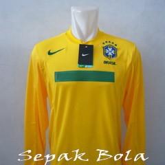 Foto Produk Jersey Brasil Home LS Copa America 2011 dari Sepak Bola Mania