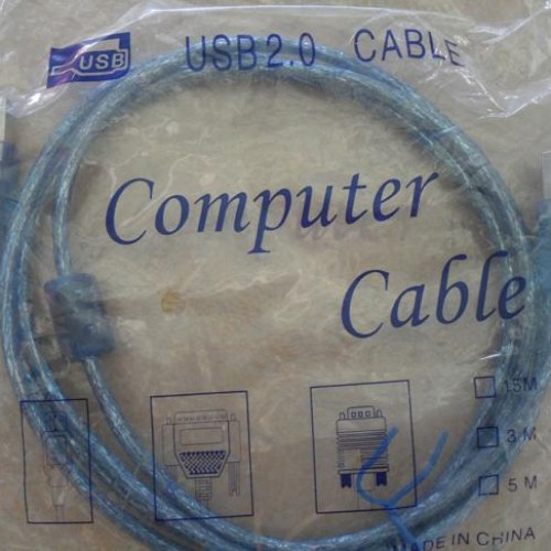 Foto Produk KABEL USB PRINTER TRANSPARAN 3 MTR dari Versus Store