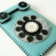 "Foto Produk Tempat Hp / Sarung Hp ""Retro Phone Blue"" dari Sumringah Shop"