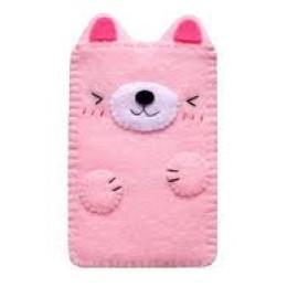 """Foto Produk Sarung Hp / Phone Case """"Pink Cat"""" dari Sumringah Shop"""