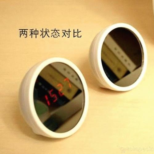 Foto Produk Cute LED Mirror Clock - Alarm Sekaligus Cermin dari Jual Barang Unik