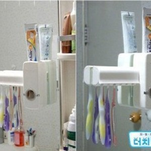Foto Produk New Toothpaste Dispenser & Brush Set WHITE dari GizelShop