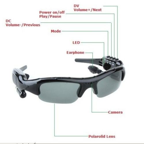Foto Produk DV88A 2GB 5-IN-1 Camera+Video+MP3+Bluetooth+FM Sunglasses dari Wagoneer.Tokopedia.Com