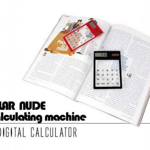 Foto Produk Kalkulator Bening Transparan Tenaga Cahaya (Solar Transparant Calculator) dari ABC Online Shop