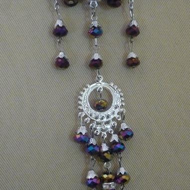 Foto Produk Bros peniti untai kristal (PL008) dari Novita's Shop