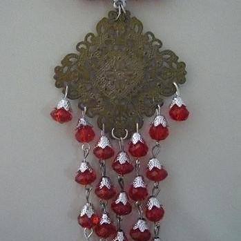 Foto Produk Bros peniti untai kristal (PL009) dari Novita's Shop