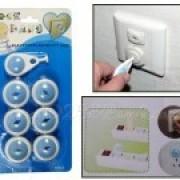 Foto Produk Pengaman Stop Kontak Listrik Untuk Bayi/Anak (Isi 6pcs+1kunci) dari Valerieolshop