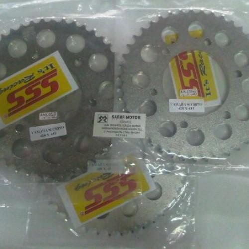 Foto Produk Sprocket Belakang Merk SSS Scorpio/Vixion/Byson 43T dari SABAR MOTOR