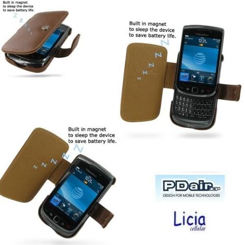 Foto Produk Pdair Original Leather Case Book Blackberry Torch 9800 Brown dari Licia Cellular
