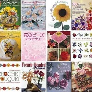 Foto Produk Flowers | Ebook Tutorial Membuat Bunga-Bungaan Dari Kertas, Kain, Manik-Manik Menggunakan Tehnik Origami, Patchwork, Crochet dari Tokobukuplus