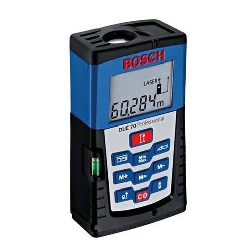 Foto Produk Bosch Digital Laser Meter Finder DLE 70 dari Alat Ukur Berkualitas