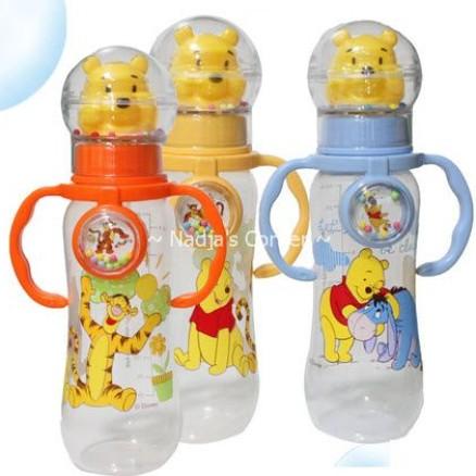 Foto Produk 250 Ml Milk Bottle With Pooh Head & Rattle (BPA Free) dari Nadja's Corner