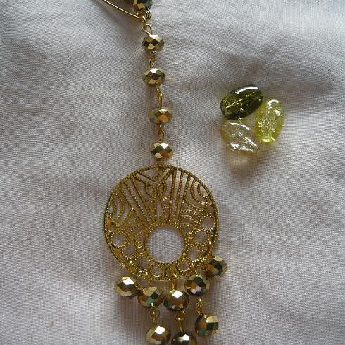 Foto Produk Bros peniti untai kristal (PL-015) dari Novita's Shop