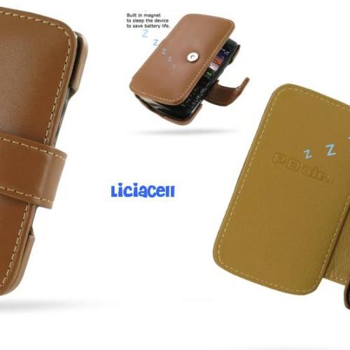 Foto Produk Pdair Original Leather Case Book Blackberry Onyx 9700 / 9780 Brown dari Licia Cellular