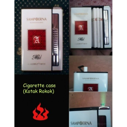 Foto Produk Kotak Rokok Geser + Korek Api Bara (Rokok Panjang) dari Tokoku-Tokomu