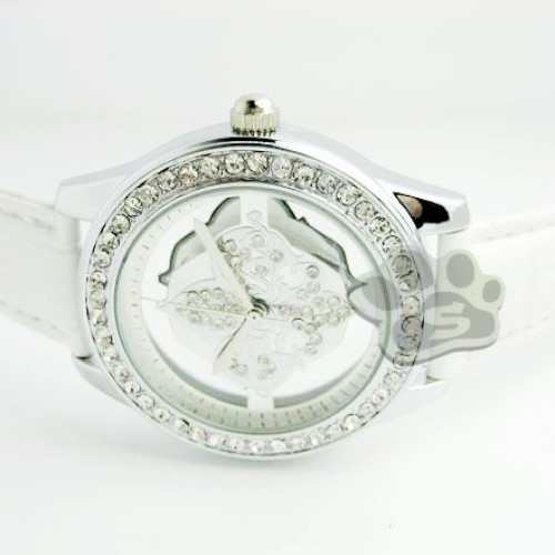 Foto Produk Jam Tangan Guess Flower Glass Leather (White) dari STYLENGO SHOP