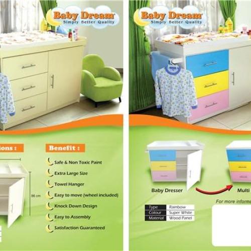 Foto Produk Jual Baby Tafel / Changing Dresser Baby Dream Harga Promo & Sdh Termasuk Biaya Pemasangan dari Eleora