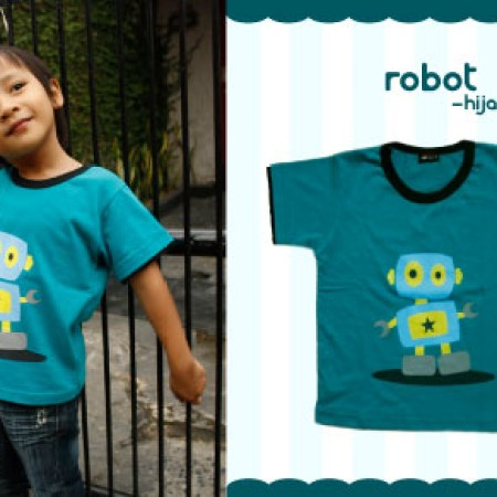 "Foto Produk Kaos Anak ""Robot"" dari NaiNai Shop"