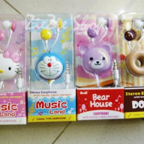 Foto Produk EARPHONE CARTOON HEAD dari Ziezie Shop