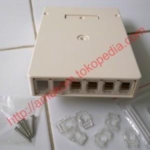Foto Produk Roset Optik FTTH / Indoor Optical Outlet 6 Core SC/FC/ST Box dari AMAKOM MEDIA KOMUNIKA