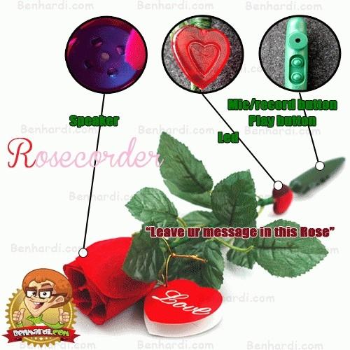 Foto Produk Rosecorder|Mawar Unik Perekam Pesan dari Barang unik benhardi