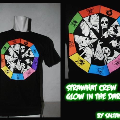 Foto Produk [Ready Stock]T-Shirt One Piece, Strawhat Crew Glow In The Dark dari Saltandlight e-Shop