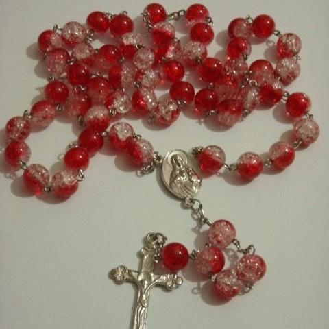 Foto Produk Rosary Red Transparant Marble dari Ansalina Handmade