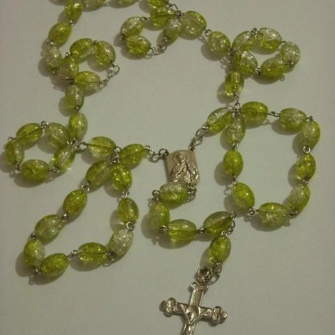 Foto Produk Rosary Lemon Mint Transparant Marble dari Ansalina Handmade
