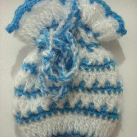 Foto Produk Kantong Rajutan Blue-White dari Ansalina Handmade
