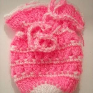 Foto Produk Kantong Rajutan Pink-White dari Ansalina Handmade