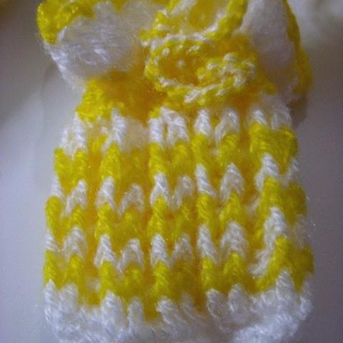 Foto Produk Kantong Rajutan Yellow-White dari Ansalina Handmade