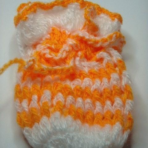 Foto Produk Kantong Rajutan Orange-White dari Ansalina Handmade