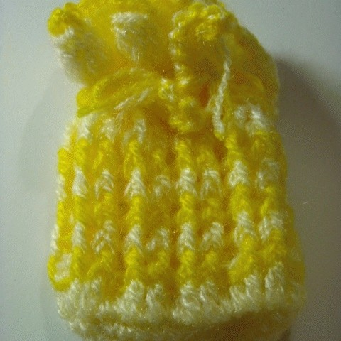 Foto Produk Kantong Rajutan Yellow-Cream dari Ansalina Handmade