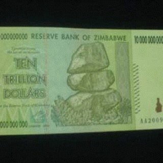 Foto Produk 10 Triliun Zimbabwe F-XF dari Uang kuno