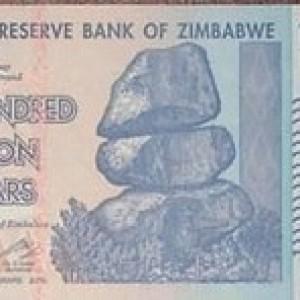 Foto Produk 100 Triliun Zimbabwe UNC dari Uang kuno