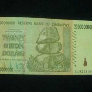 Foto Produk 20 Milyar Zimbabwe VG-VF dari Uang kuno