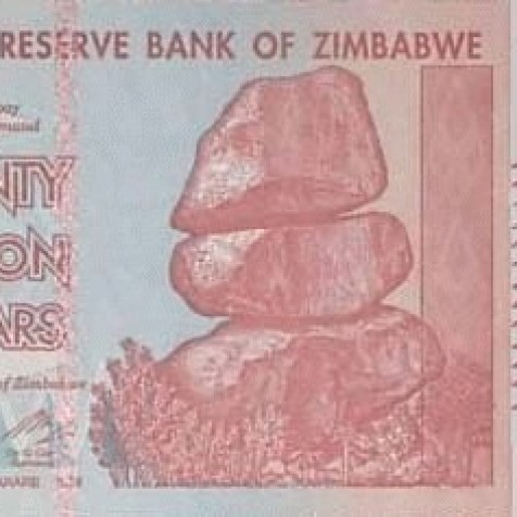 Foto Produk 20 Triliun Zimbabwe UNC dari Uang kuno