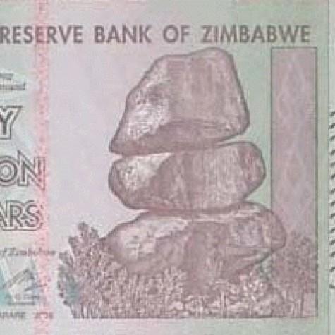 Foto Produk 50 Triliun Zimbabwe UNC dari Uang kuno