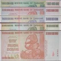 Foto Produk Set Milyar Zimbabwe UNC dari Uang kuno