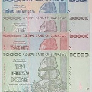 Foto Produk Set Triliun Zimbabwe UNC dari Uang kuno